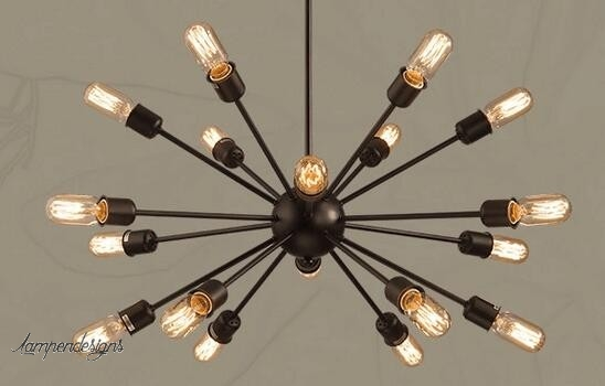 Pendant lamp black star