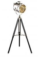 Tripad Light Projector wooden legs chrome