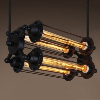Pendant lamp Domus square 4 bulbs