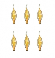 Edison Light Bulb candle 6 pieces,